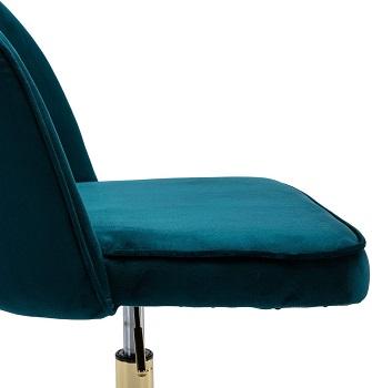 Guyou Velvet Rolling Swivel Chair