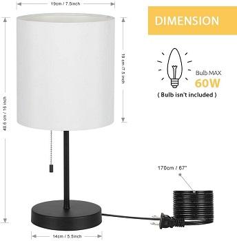 HAITRAL Table Lamp - Modern