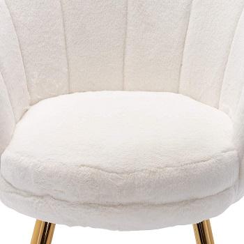 HNY Fur White Desk Chair