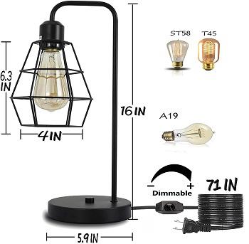 Industrial Table lamp,Black Vintage