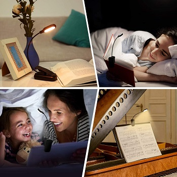 LOHAS Reading Light, Rechargeable Book Light