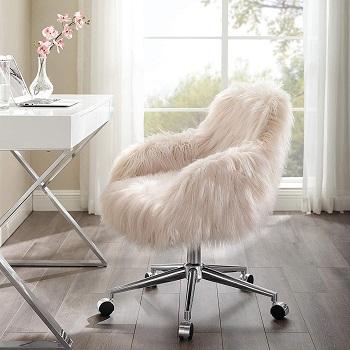 Linon Fur Office Chair