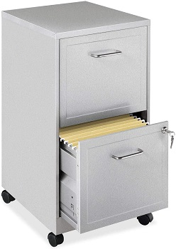 Lorell 16873 2-Drawer Mobile File Cabinet
