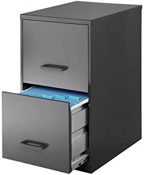 Realspace 18D 2-Drawer Vertical File Cabinet