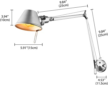SUSUO Lighting Long Swing-Arm Wall