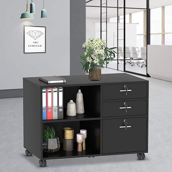 YITAHOME Wood File Cabinet, 3 Drawer