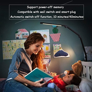 amazlit Desk Lamp with Clamp, Eye-Care Swing Arm