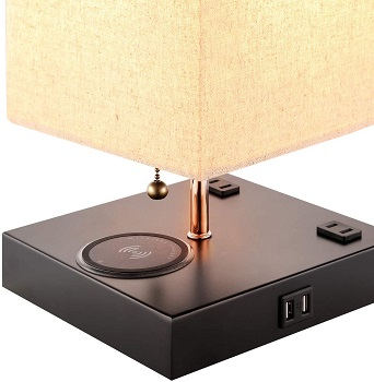 lecone Table Lamp with Wireless Charger and (1)