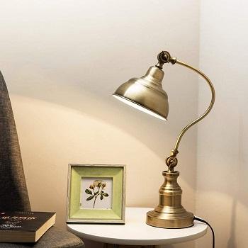 BEST ANTIQUE BRASS READING LAMP