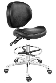 BEST ARMLESS LEATHER DRAFTING CHAIR