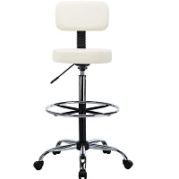 BEST ARMLESS WHITE DRAFTING CHAIR Summary