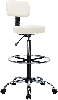 BEST ARMLESS WHITE DRAFTING CHAIR