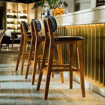 BEST ARMLESS WOODEN TALL STOOLS