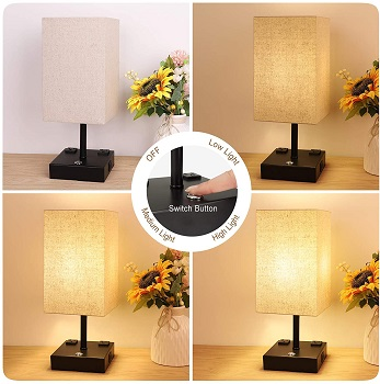 BEST BEDROOM NIGHT STAND LAMP WITH USB PORT
