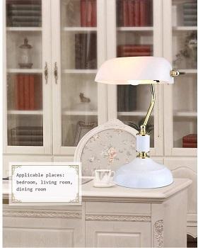 BEST BEDROOM WHITE BANKERS LAMP