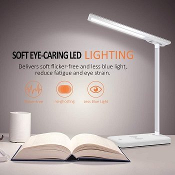BEST BEDSIDE DESK LAMP WITH PHONE CHARGER