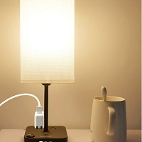 BEST BEDSIDE TABLE LAMP WITH USB PORT AND OUTLET PICKS