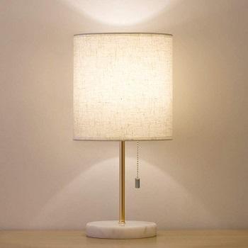 BEST BEDSIDE WHITE AND GOLD DESK LAMP