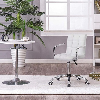 BEST CHEAP WHITE LEATHER ERGONOMIC OFFICE CHAIR