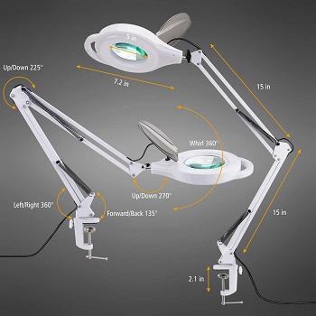 BEST CLAMP MODERN WHITE DESK LAMP