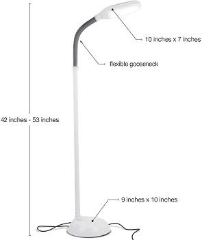 BEST FLOOR WHITE TASK LAMP