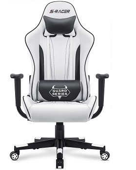 BEST FOR STUDY WHITE LEATHER ERGONOMIC OFFICE CHAIR