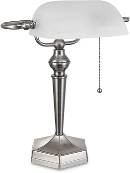BEST HOME WHITE BANKERS LAMP