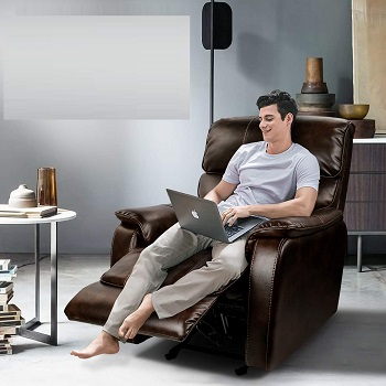 BEST LEATHER RECLINER CHAIR FOR TALL PERSON