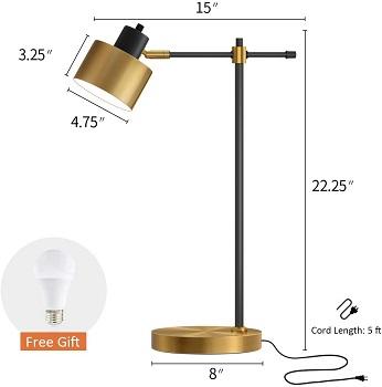 BEST LED BLACK AND GOLD DESK LAMP
