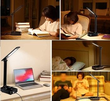 BEST LED DESK LAMP WITH OUTLET