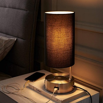 BEST MODERN BEDSIDE LAMP WITH CHARGING STATION