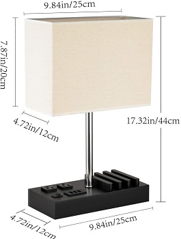 BEST OF BEST DESK LAMP WITH USB PORT AND OUTLET