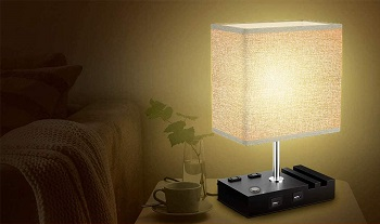 BEST READING BEDSIDE LAMP WITH CHARGING STATION