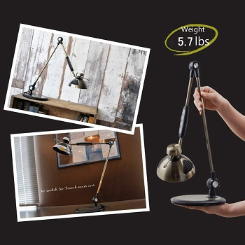 BEST SWING ARM BLACK AND GOLD DESK LAMP