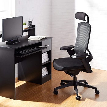 BEST TALL ERGONOMIC OFFICE CHAIR WITH ADJUSTABLE ARMS