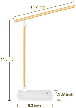 BEST TASK WHITE AND GOLD DESK LAMP