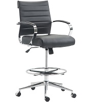 BEST WITH ARMRESTS LEATHER DRAFTING CHAIR Summary