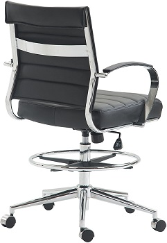 BEST WITH ARMRESTS LEATHER DRAFTING CHAIR