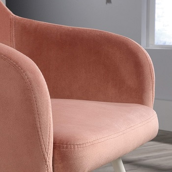 BEST WITH ARMRESTS PINK DESK CHAIR NO WHEELS