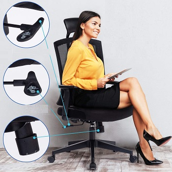 BEST WITH ARMRESTS TALL OFFICE CHAIR WITH ARMS