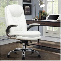BEST WITH ARMRESTS WHITE LEATHER ERGONOMIC OFFICE CHAIR Summary