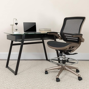 BEST WITH BACK SUPPORT MID-CENTURY DRAFTING CHAIR