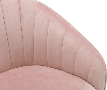 BEST WITH BACK SUPPORT PINK DESK CHAIR NO WHEELS