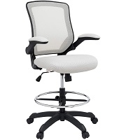 BEST WITH BACK SUPPORT WHITE DRAFTING CHAIR Summary