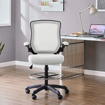 BEST WITH BACK SUPPORT WHITE DRAFTING CHAIR