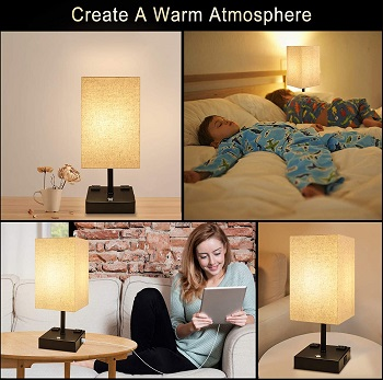 Bedside Lamp, 3 Way
