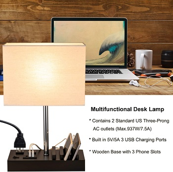 Briever USB Table Lamp, Multi
