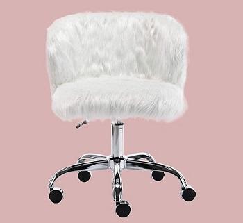 CIMOTA White Fuzzy Chair