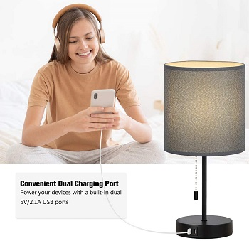Desk Lamps with Gray Cylindrical
