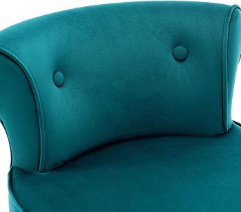 Duhome Upholstered Velvet Stool